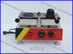 Commercial Nonstick Electric Ice Cream Taiyaki Fish Waffle Maker Baker Machine