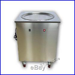 Commercial Single Flat 50cm pan roll ice cream making fried ice cream machine