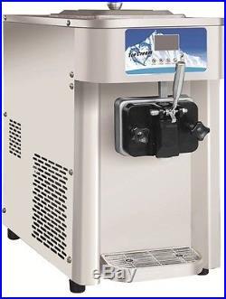 Commercial Single Flavor Soft Serve Ice Cream Machine 12L/H Yogurt Maker Machine