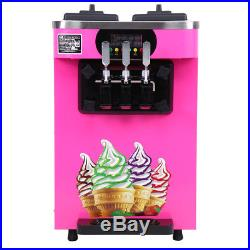 Commercial Soft Ice Cream 3 Flavor Steel Frozen Yogurt Cone Maker Machine