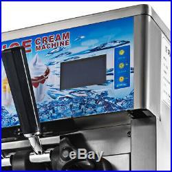 Commercial Soft Ice Cream Maker Frozen Yogurt Making Machine 3 Flavor 18L/H CE