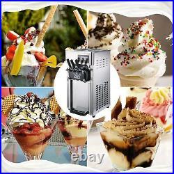 Commercial Stainless Soft Serve Ice Cream & Frozen Yogurt Maker Machine 3 Flavor