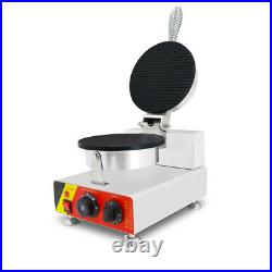 Commercial Stainless Steel Ice Cream Waffle Cone Maker Machine 110V NEW