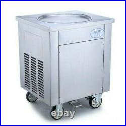 Commercial Thai Fried Ice Cream Machine 900W, Ice Cream Roll Maker 450mm 220V