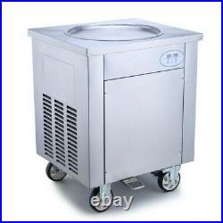 Commercial Thai Fried Ice Cream Machine 900W, Ice Cream Roll Maker 450mm 220V