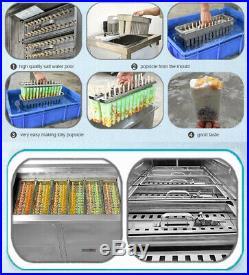 Commercial brazilian 8 slim mold sets ice popsicle machine, ice pop machine
