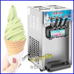 Commercial frozen yogurt machine, soft ice cream machine with 3 flavor 110V