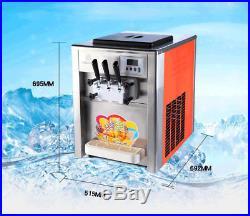 Commercial ice cream machine Soft ice cream maker Sweet cone machine 22L/H 220V