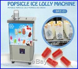Commercial single moldset ice Popsicle Machine, ice pop Machine, ice lolly Machine