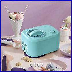 Costway Ice Cream Maker 1.1 QT Automatic Frozen Dessert Machine with Spoon Green