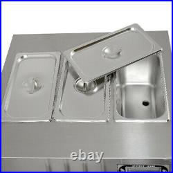 Countertop 5 flavors softy ice cream maker, 3+2 mixed soft serve ice machine