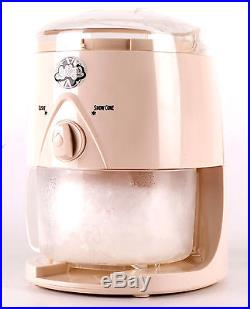 Cream Snow Cone Maker Machine Ice Shaver makes slush puppie Style ice drinks