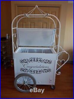 Custom One of a Kind Wedding / Shower / Anniversary Ice Cream Cart Custom Made