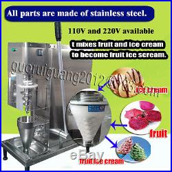 DHL shipping, manual yogurt fruit ice cream blender/mixer machine, big cone cup