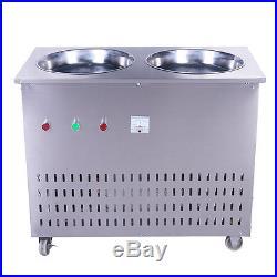 Double Pan Fried Ice Cream machine Stir Yogurt machine Fry Ice Roll Maker 220V Y