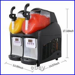 Double Tank Slush Machine 2.5L Ice Cream Maker 300W Snow Melting Machine