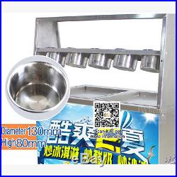 Double pan Thai fried fruit ice cream roll machine