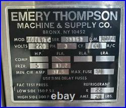 EMERY THOMPSON 40BLT+C ICE CREAM BATCH FREEZER MACHINE (Used) FA9900182