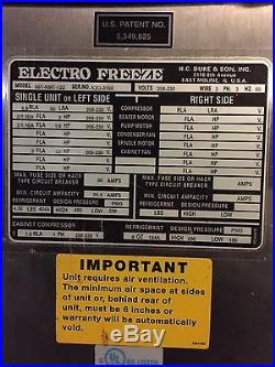 Electro Freeze Soft Ice Cream Maker Originally $24,000