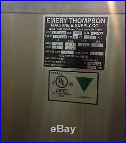 Emery Thompson CB350 Batch Freezer ice cream machine