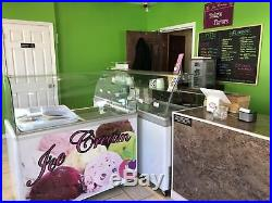 FULL FROZEN YOGURT/ ICE CREAM STORE 5 air cooled machines, tables, topping bar