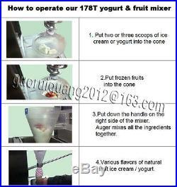 Factory direct fruit ice cream mixing machinery/yogurt ice cream blender