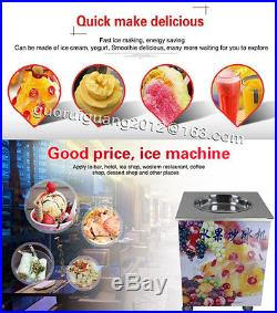 Flat single pan fried ice cream roll machine for Sorbet, juice, stainless steel