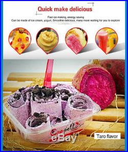 Free shipping, fry thai fried fruit ice cream roll machine, 20inch square big pan