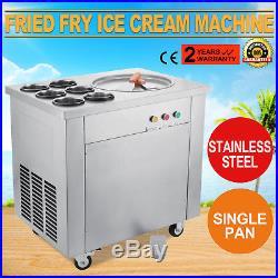 Fried Fry Ice Cream Maker Single Pot Machine Fast Making Fruit Milk Newest