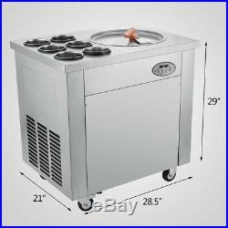 Fried Ice Cream Machine Set Temperature 1 Pan 6 Buckets Ice Cream Roll Maker