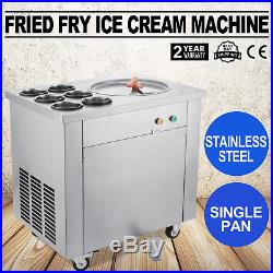 Fried Ice Cream Maker Single Pot Six Buckets Fry Ice Cream Machine 740W