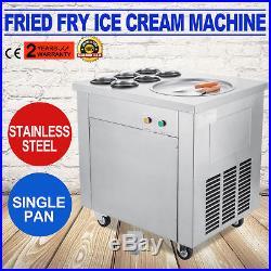 Fried Ice Cream Maker Single Pot Six Buckets Roll Ice Cream Machine Defrost 740W