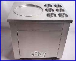 Fried Ice Cream machine Ice Cream Maker For Yogurt with 1 Pan Six Buckets 110V T