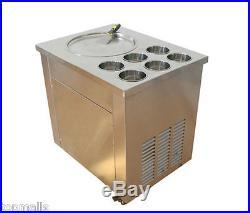 Fried Ice Cream machine Ice Cream Maker For Yogurt with 1 Pan Six Buckets 220V