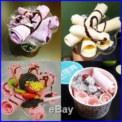 Fried Ice Machine one Pan Roll Ice Cream Making Machine