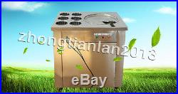 Fried ice cream machine, yogurt milk fruit ice cream maker, 1 pan with 6 buckets
