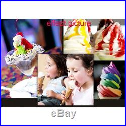Frozen 3 Flavors Commercial Soft Ice Cream Machine Ice Cream Cones Pickup