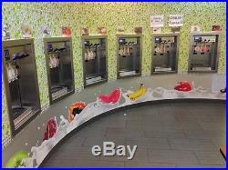 Frozen yogurt store equipment, machine, tables, chairs