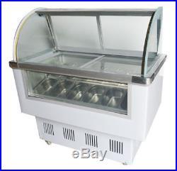 Gelato 12 PAN Case Hard Ice Cream Dipping Cabinet Freezer Display Cabinet F10