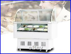 Gelato Case 12 PAN Hard Ice Cream Dipping Cabinet Freezer Display Cabinet 220V
