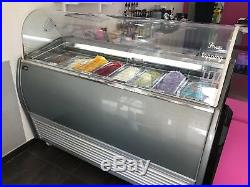Gelato Case/ice Cream Display 8 Cases 63''29''50 In Very Good Working Condition