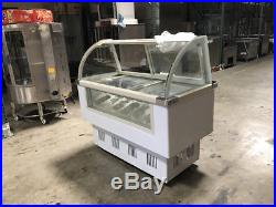 Gelato Ice Cream Dipping Cabinet Freezer Display Cases Display 14 pan F14
