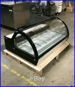 Gelato Showcase 6 pan Counter top Ice Cream Freezer Display