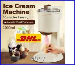 Homemade Ice Cream Maker Machine Kids Soft Serve Ice Cream Machine Beach Kitchen