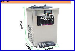 Hot Sales Commercial Tablet Top 3-Flavors Soft Ice Cream Machine, 8L/H capacity
