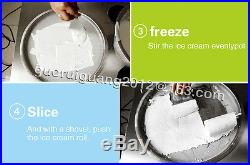 Hot double pan Thai fried ice cream machine, ice cream roll maker with 5 boxes