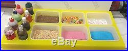 ICE CREAM VAN DISPLAY STAND TOPPINGS JUICE Yellow PERSPEX ANY COLOR