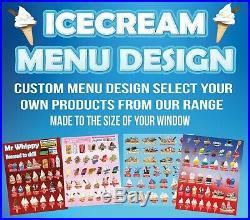 ICE CREAM VAN MENU STICKER, any design
