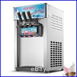 Ice Cream Machine 3 Flavor Commercial Frozen Ice Cream Cones Machine Sweet Soft