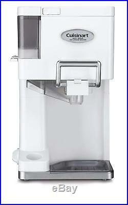 Ice Cream Machines Yogurt Maker Electric Automatic 1-1/2-Quart Soft Serve White